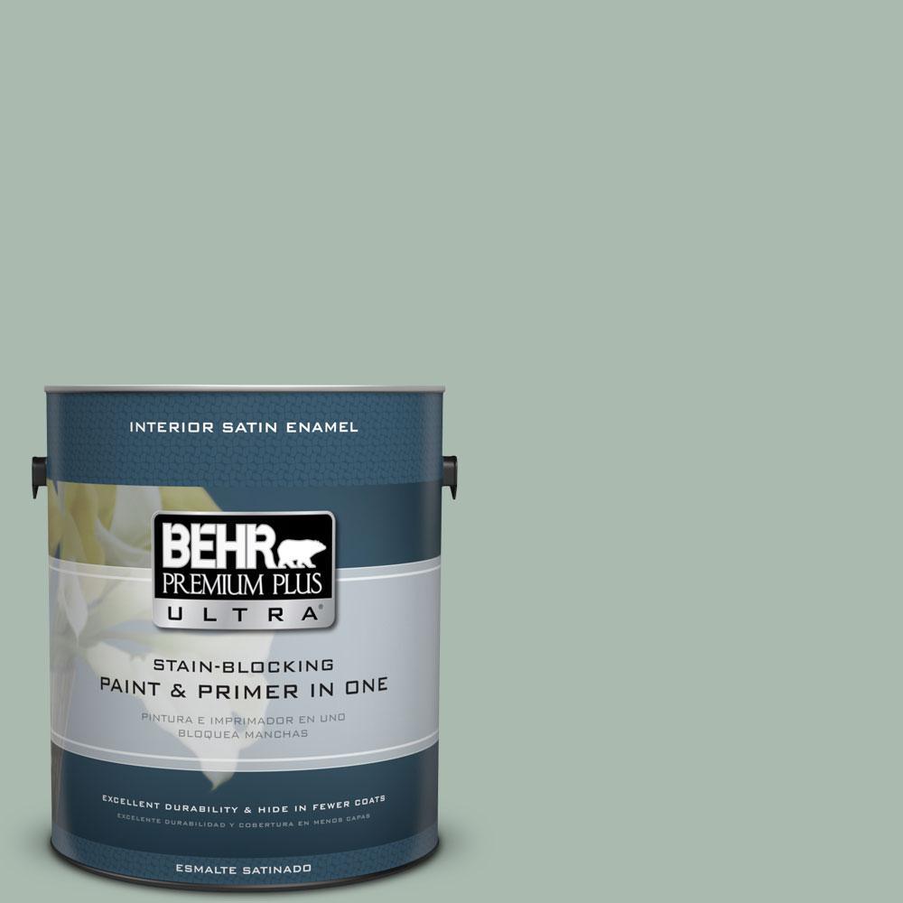 BEHR Premium Plus Ultra 1-Gal. #PPU11-14 Zen Satin Enamel Interior Paint