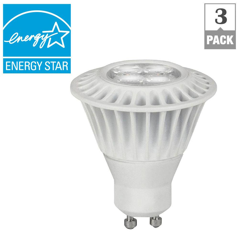 TCP 35W Equivalent Bright White GU10 Dimmable LED Spot Light Bulb (3-Pack)