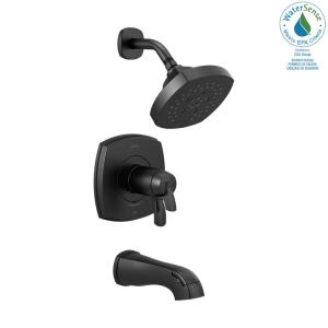 Stryke TempAssure 1-Handle Wall Mount 5-Spray Tub and Shower Faucet Trim Kit in Matte Black (Valve Not Included)