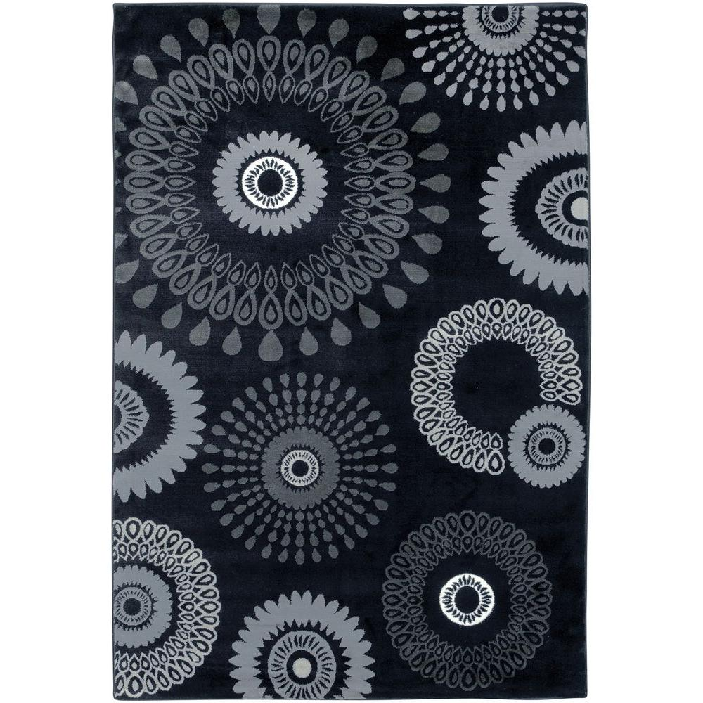 LR Resources Adana Charcoal 9 ft. 2 in. x 12 ft. 6 in. Plush Indoor Area Rug