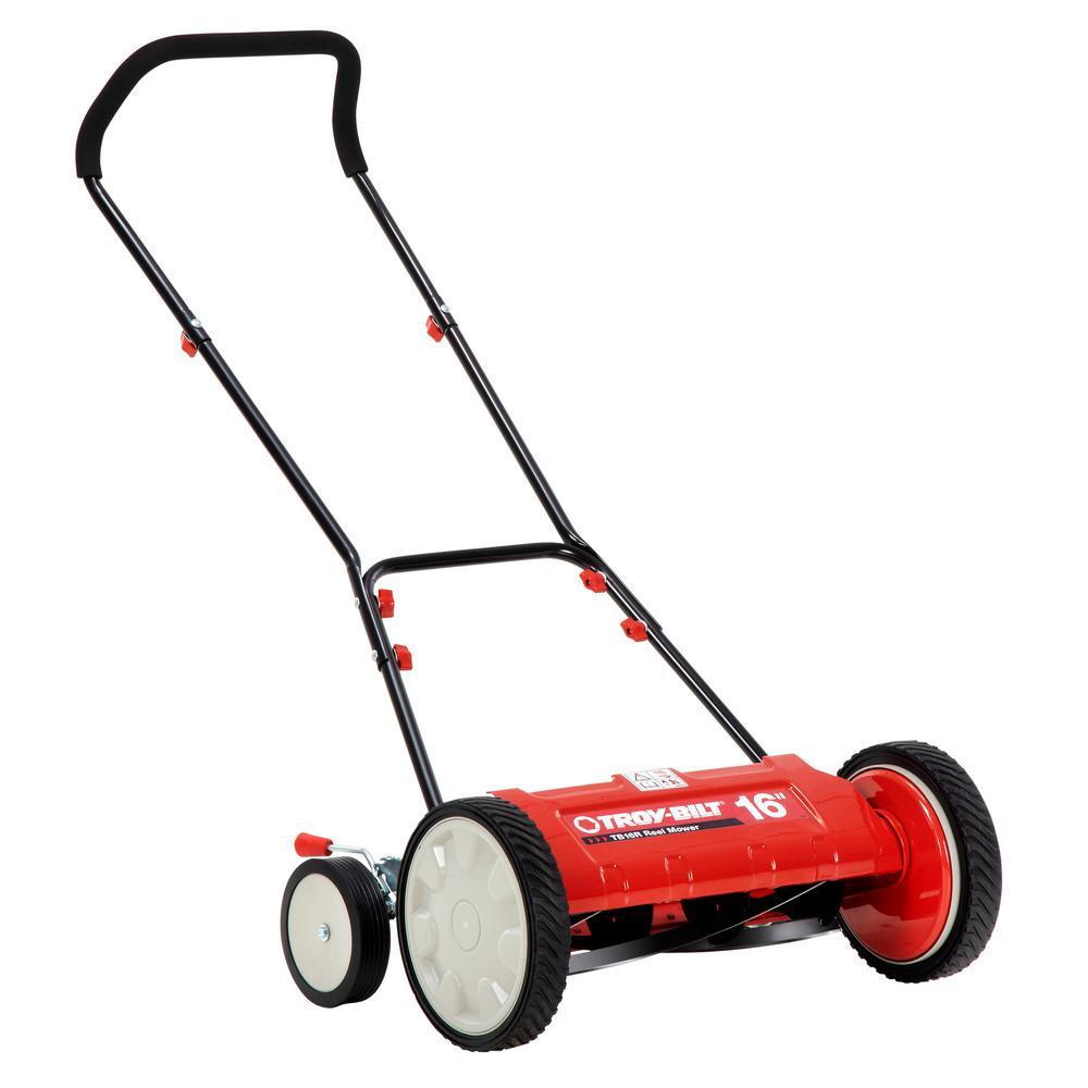 16 in. Manual Walk Behind Reel Lawn Mower