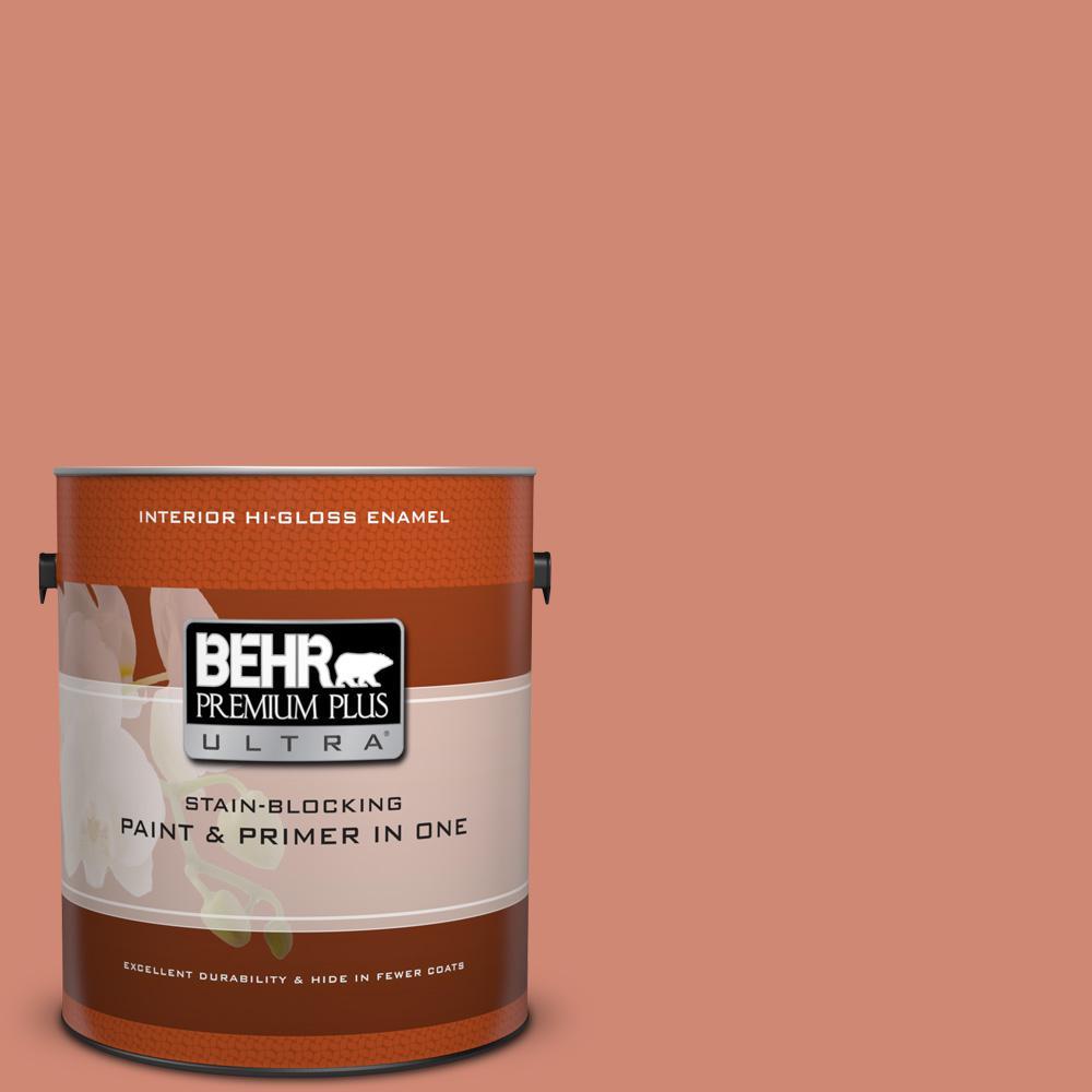 1 gal. #HDC-WR16-02 Rosy Copper Hi-Gloss Enamel Interior Paint