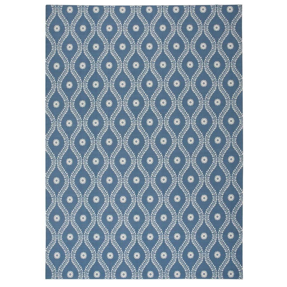 nourison corfu blue 8 ft x 11 ft indoor outdoor area rug. Black Bedroom Furniture Sets. Home Design Ideas