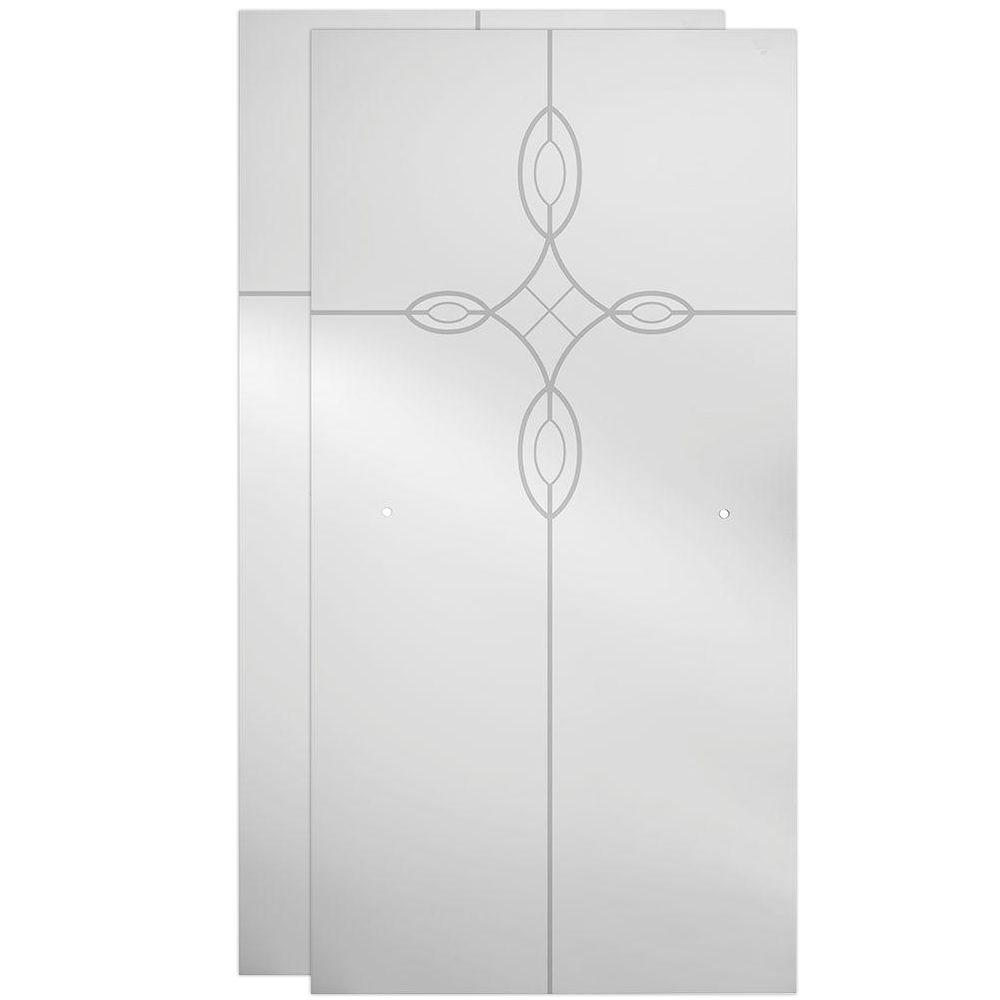 Delta 60 in. Sliding Shower Door Glass Panels in Tranquility (1-Pair)