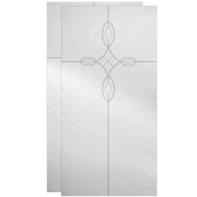 29-1/32 x 67-3/4 in. x 1/4 in. Frameless Sliding Shower Door Glass Panels in Tranquility (1-Pair for 50-60 in. Doors)