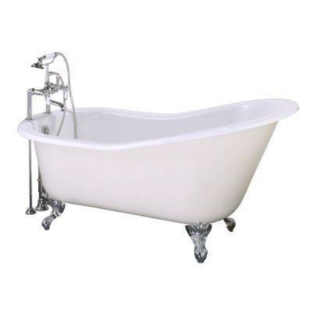 Elizabethan Classics 5 Ft Cast Iron Slipper Tub With