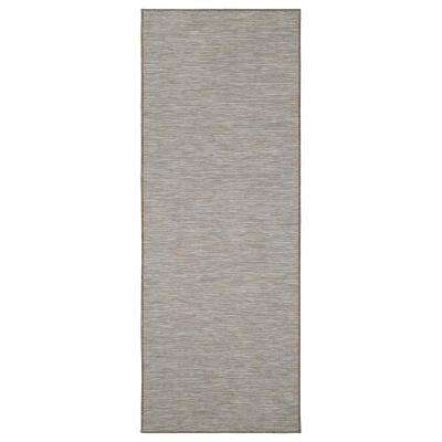 Sundance Collection Solid Beige 2 ft. 7 in. x 5 ft. Indoor/Outdoor Reversible Runner Rug
