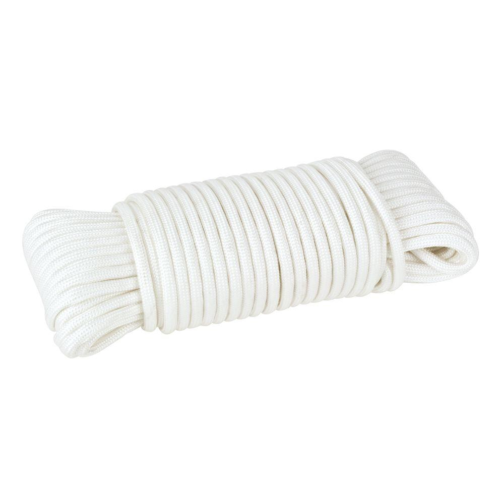 Everbilt 1/8 in. x 50 ft. Paracord Rope, White