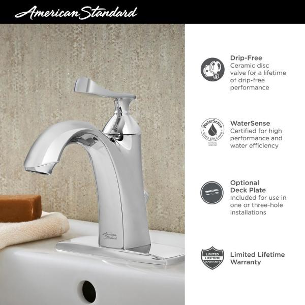 American Standard Chatfield Single Hole Single Handle Bathroom