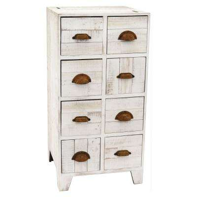17.75 in. x 14 in. White Cabinet with Drawers