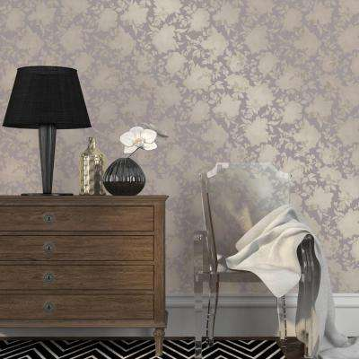 Dusted Lavender Silhouette Wallpaper