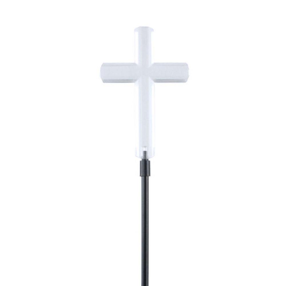 Moonrays Clear Cross Solar Powered Integrated LED Outdoor...