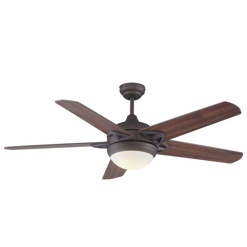 Royal Pacific 1-Light Fan Walnut Blades Oil Rubbed Bronze Finish-DISCONTINUED