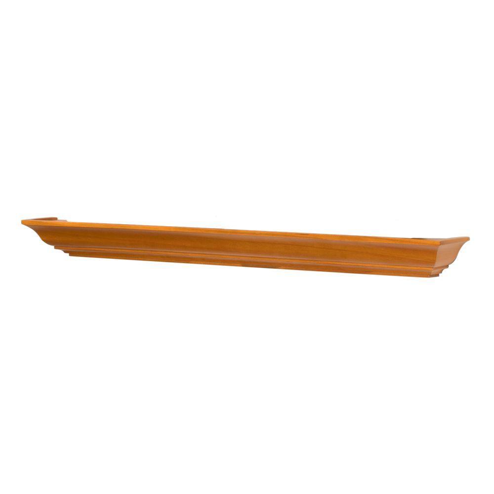 Lewis Hyman 36 in. English Oak Milan Mantle Ledge Floating Shelf