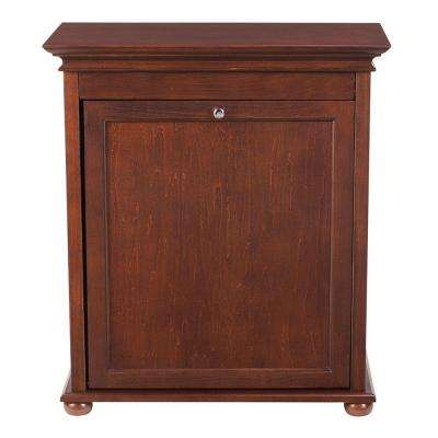Hampton Harbor 24 in. Single Tilt-Out Hamper in Sequoia
