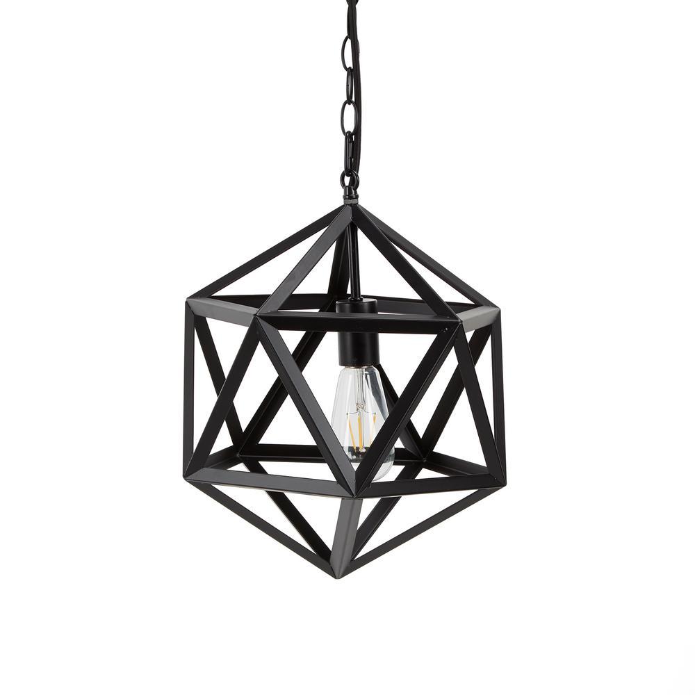 Brayden Black 1-Light Integrated LED Pendant