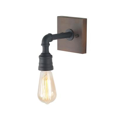 1-Light Black Bathroom Vanity Light