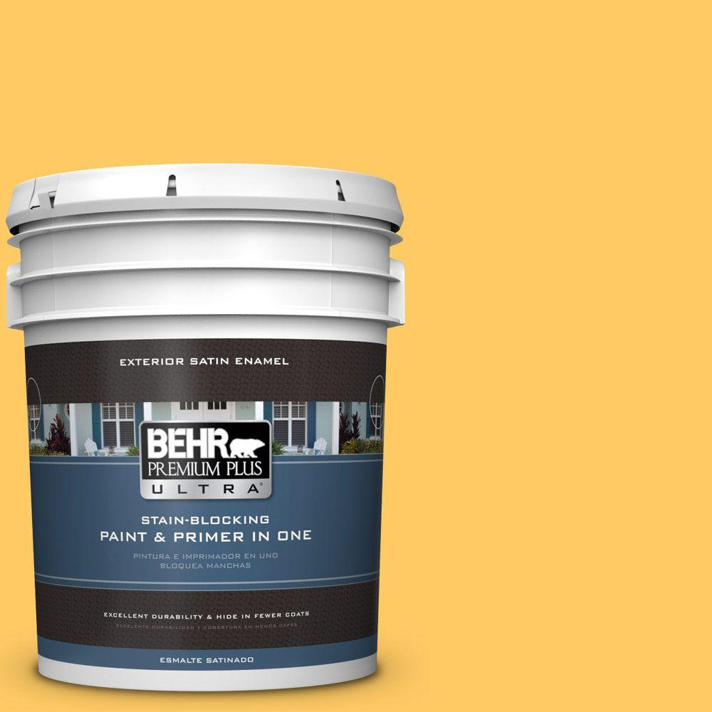 BEHR Premium Plus Ultra 5-gal. #P260-6 Smiley Face Satin Enamel Exterior Paint