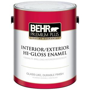1 gal. Ultra Pure White Hi-Gloss Enamel Interior/Exterior Paint