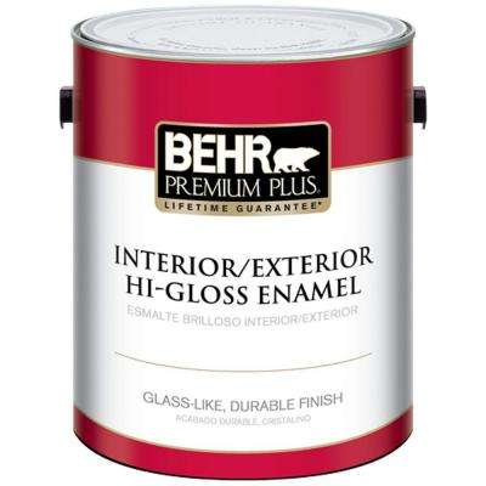 1 gal. Ultra Pure White Hi-Gloss Enamel Interior/Exterior Paint