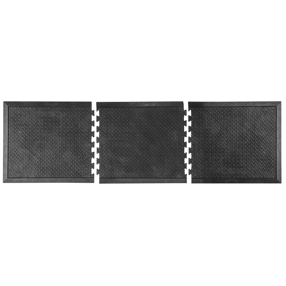 Modular Anti-Fatigue Rubber Mat (3-Piece)