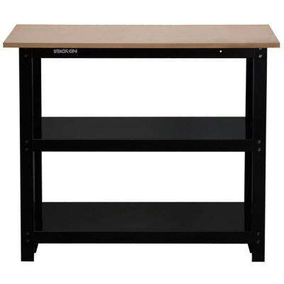 3 ft. Stack-On Compact Steel Workbench with Rugged Steel I-Beam Construction