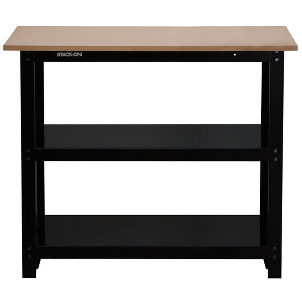 Stack-On 3 ft. Stack-On Compact Steel Workbench with Rugged Steel I ...