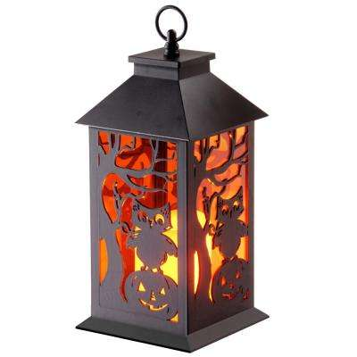 11.5 in. LED Owl and Pumpkin Lantern