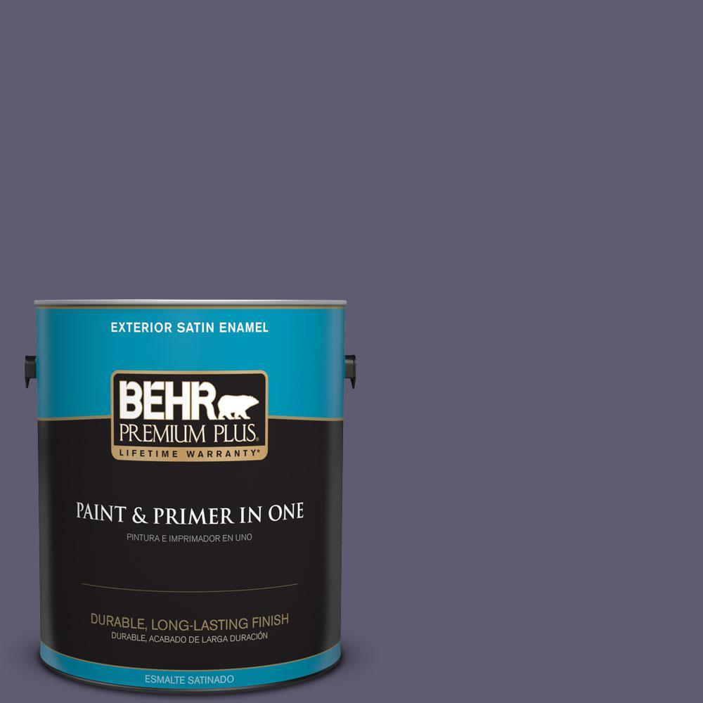 BEHR Premium Plus 1-gal. #PMD-90 Luscious Purple Satin Enamel Exterior Paint