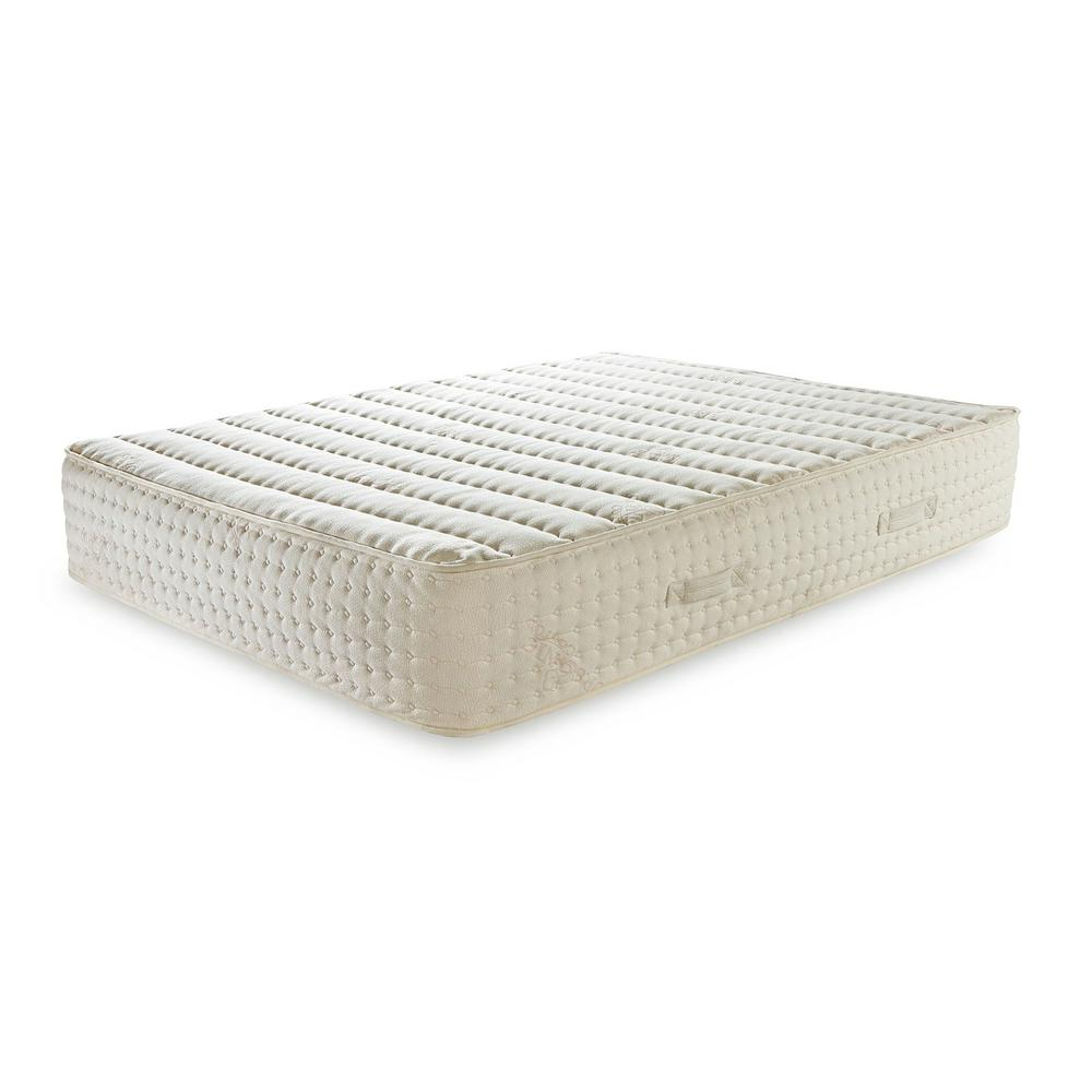 Plushbeds Bliss Twin Medium Natural Latex Encased Coil Mattress