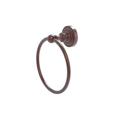 Dottingham Collection Towel Ring in Antique Copper