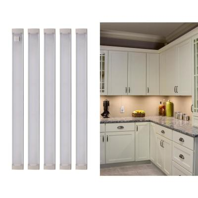 9 in. LED Warm White 2700K, Dimmable, 5-Bar Under Cabinet Lights Kit with Hands-Free On/Off (Tool-Free Plug-in Install)