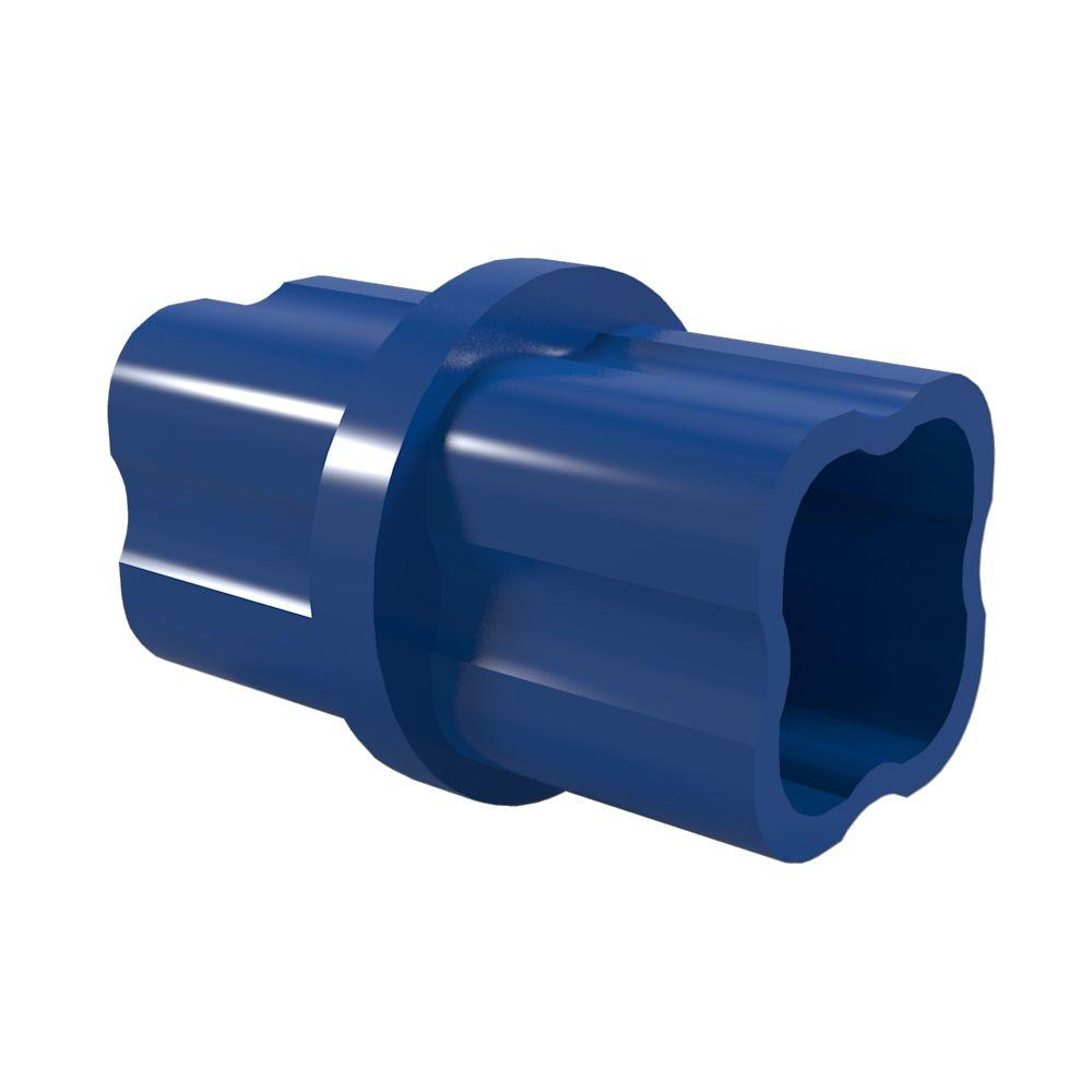 Formufit 1-1/4 in. Furniture Grade PVC Sch. 40 Internal Coupling in Blue (10-Pack)