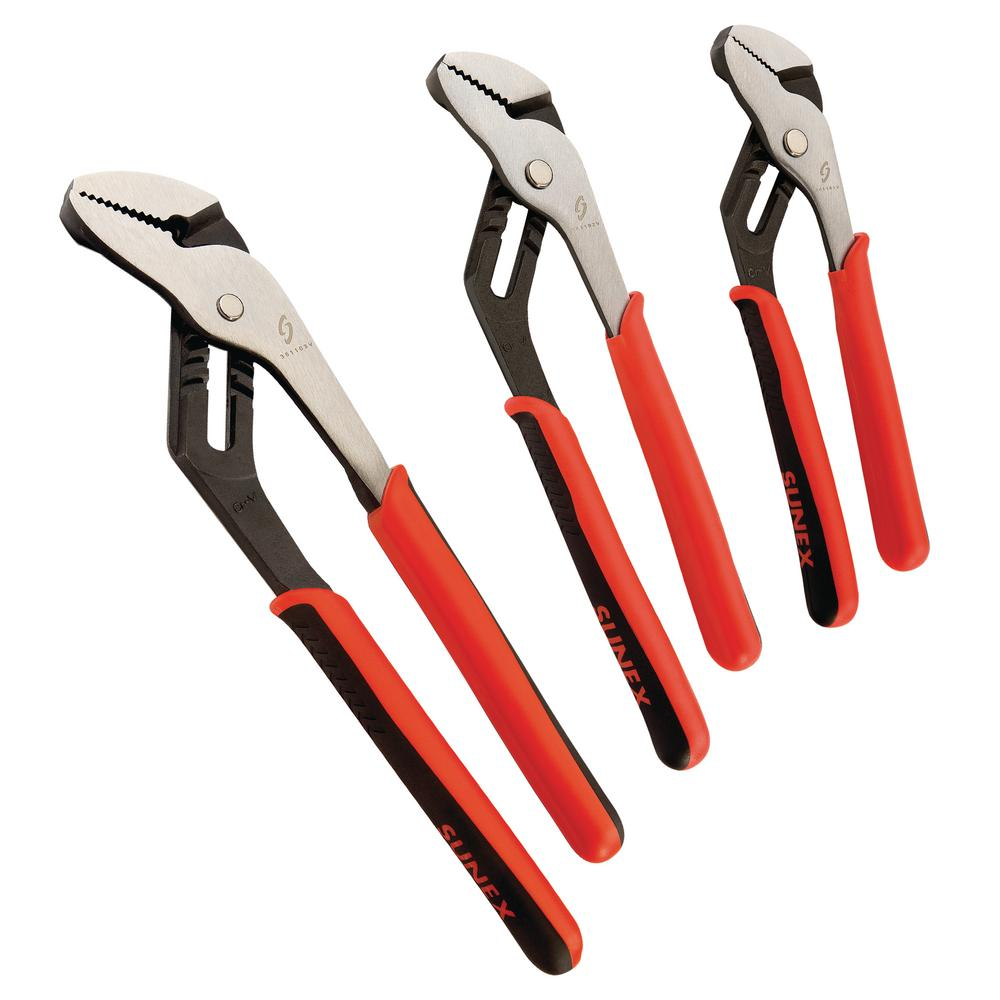 Sunex Tools Tongue and Groove Pliers Set (4-Piece)