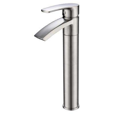Ariana 12 in. Single Hole Single-Handle Vessel Bathroom Faucet with Swivel Spout in Brushed Nickel