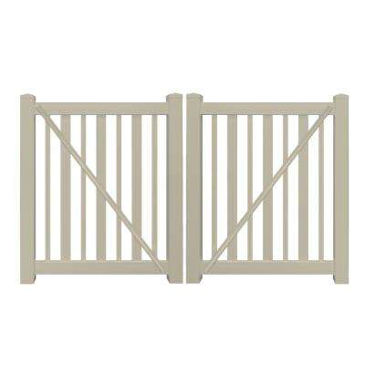 Beige 9 Vinyl Fence Gates Vinyl Fencing The Home Depot