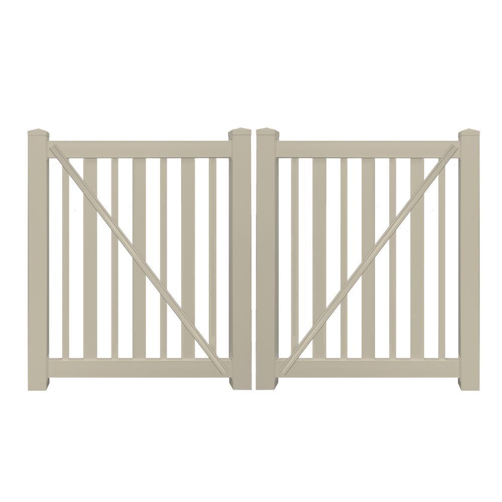h khaki vinyl pool double fence gate