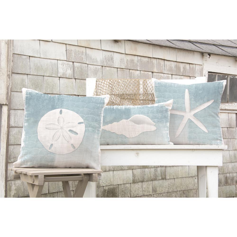 Beachcomber Oyster Sand Dollar Sand Decorative Pillow