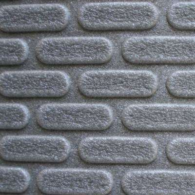 Carpet Cushion Sample - 5/16 in. Thick Waterproof Premium Plus Carpet Cushion - Color Gray 8 in. x 8 in.