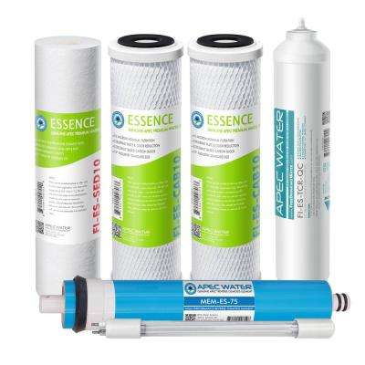 Essence ROES-UV75-SS Replacement Water Filter Cartridge Complete Filter Set Stage 1-6