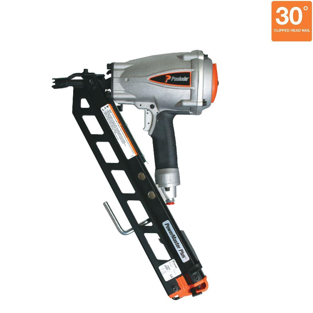 Paslode Pneumatic 3-1/2 in. 30° PowerMaster Plus Clipped-Head ...