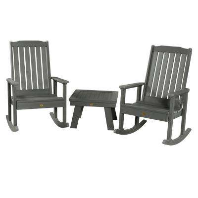 Lehigh Coastal Teak 3-Piece Recycled Plastic Patio Conversation Set