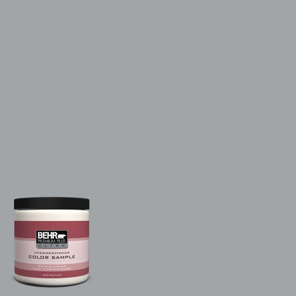 BEHR Premium Plus Ultra 8 oz. #ECC-33-1 Iron Wood Interior/Exterior Paint Sample