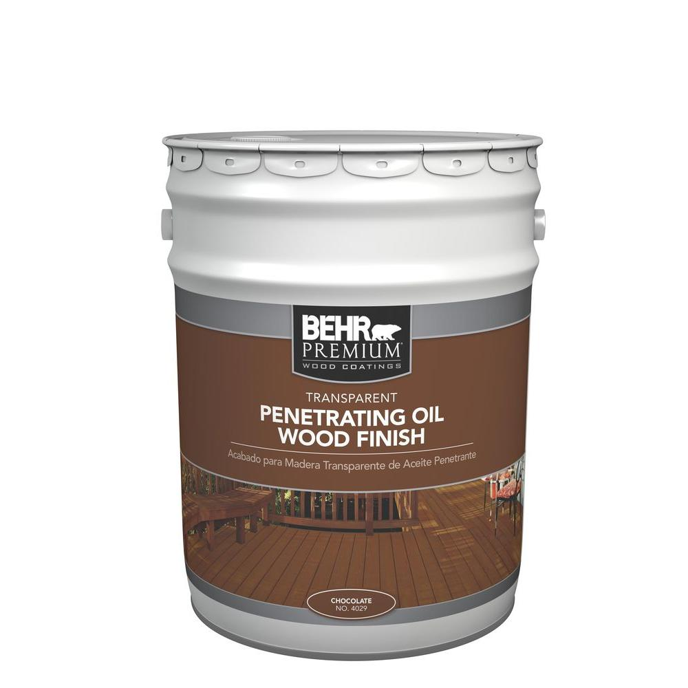 BEHR 5 gal. #4029 Chocolate Transparent Penetrating Oil Wood ...