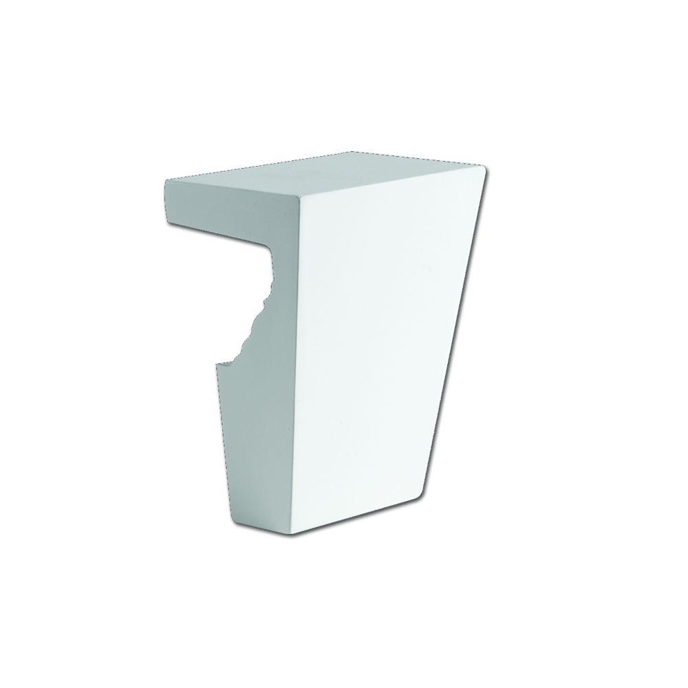 Fypon 8-1/2 in. x 13 in. x 5-3/4 in. Polyurethane Keystone fits 12 in. Window and Door Crosshead