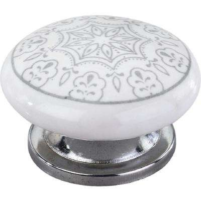 Gainesville 1-3/5 in. Grey Design Cabinet Knob