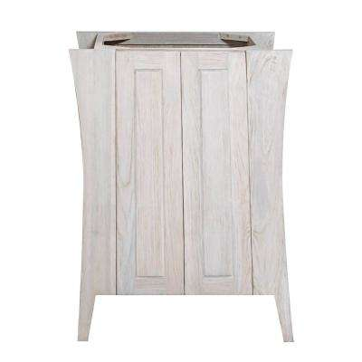 Curvature 24 in. W Teak Vanity Bath Cabinet Only in Driftwood