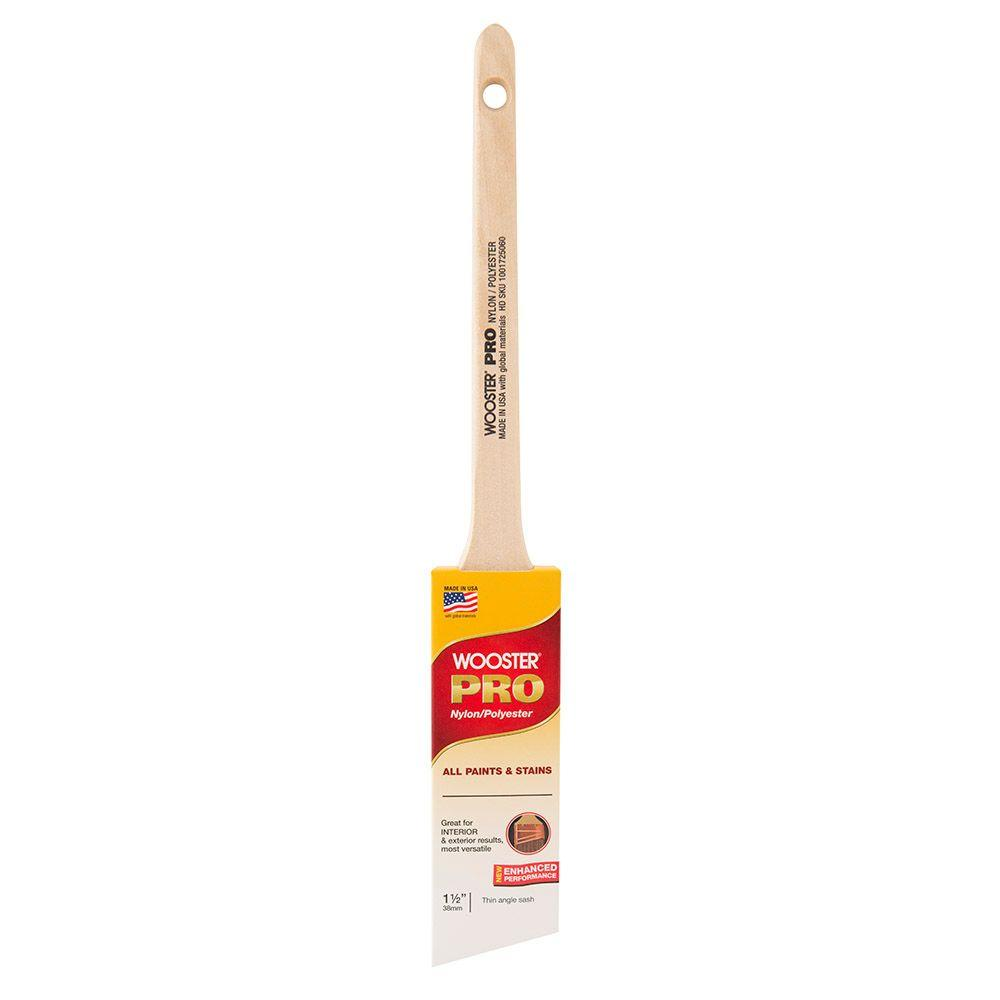 Wooster Wooster 1-1/2 in. Pro Nylon/Polyester Thin Angle Sash Brush