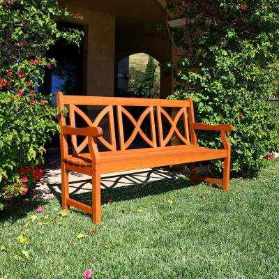 Roch Eucalyptus X-Back Patio Bench