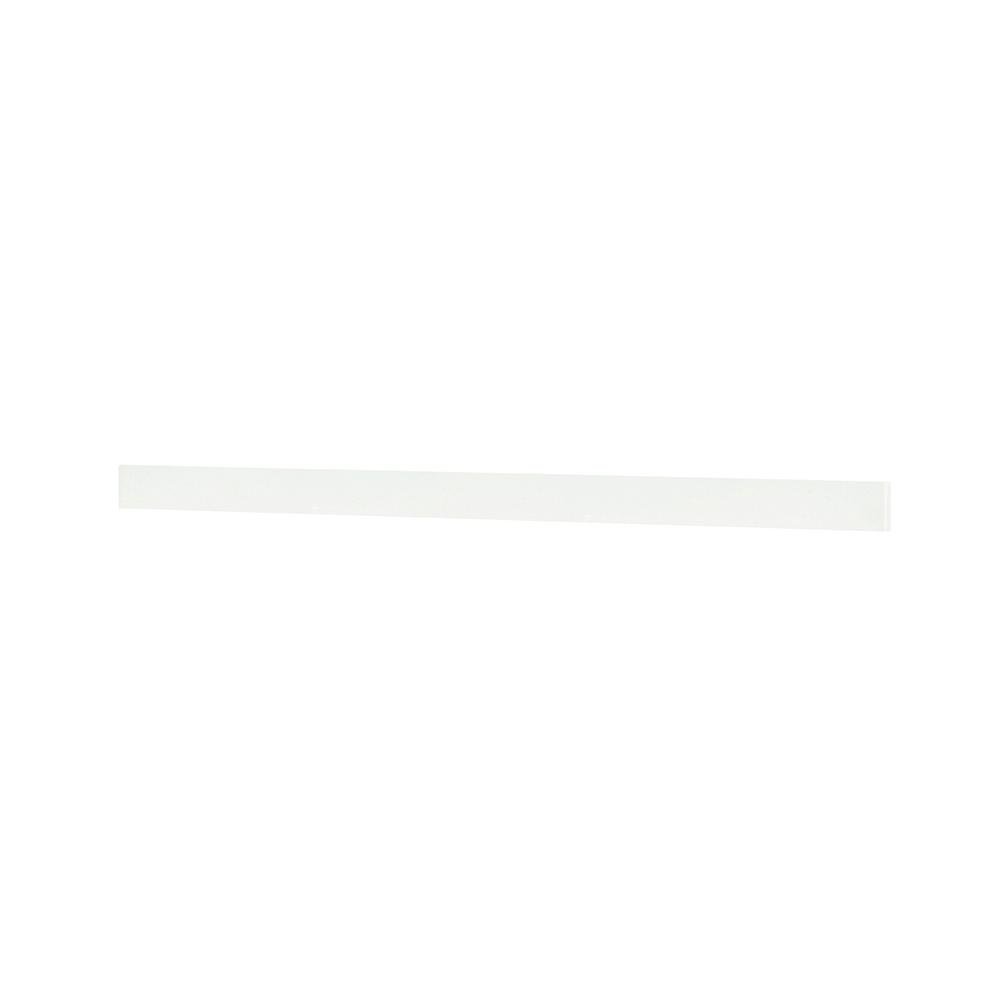 Home Decorators Collection Austell 67 in. Marble Backsplash in White